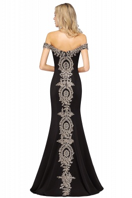 Simple Off the Shoulder Appliques Fitted Floor Length Evening Gown_29