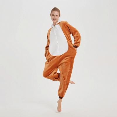 Cute Sleepwear for Women Brown Hoodie Onesies_16