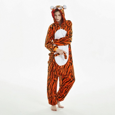 Lovely Adult Tiger Onesies Pajamas for Women_12
