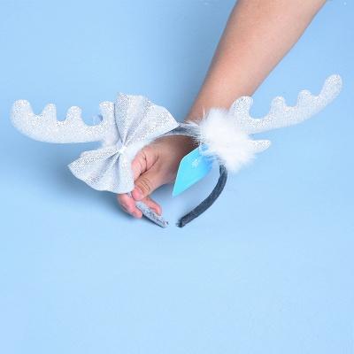 Christmas Decoration White Wapiti Deer Headhand_2