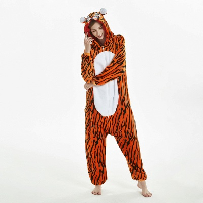 Lovely Adult Tiger Onesies Pajamas for Women_14