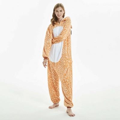 Cute Adult Deer Onesies Pajamas for Women_17