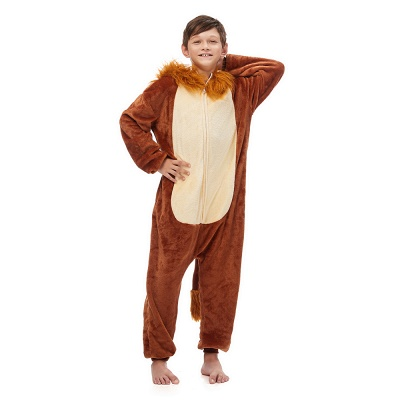 Cute Animal Sleepwear for Boys Lion Onesie, Brown_2