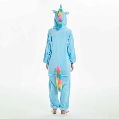 Downy Adult Sky Blue Unicorn Onesies Sleepwear for Girls_3
