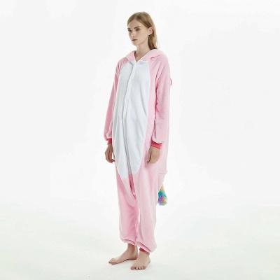 Cute Adult Pink Unicorn Onesies Sleepwear for Girls_2