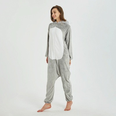 Cute Animal Pyjamas for Women Mouse Onesies, Grey_8