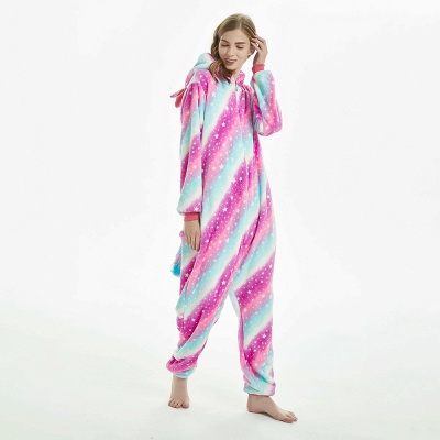 Downy Adult Coloful Onesies Pajamas for Women_5