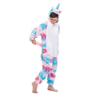 Lovely Pajamas Sleepwear for Kids Unicorn Hoodie Onesies_5
