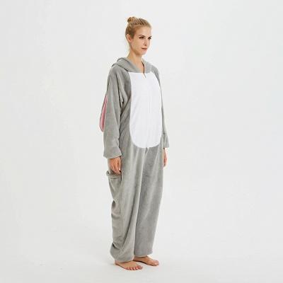 Adorable Adult Pyjamas for Women Long Ears MashiMaro Onesie, Grey_2