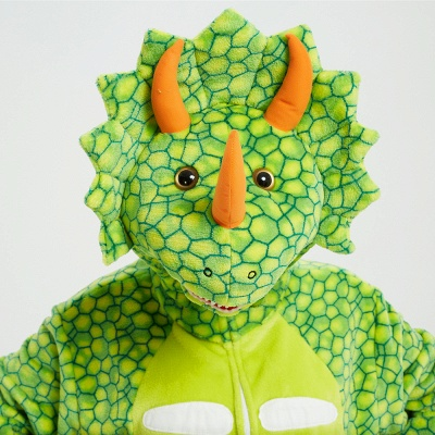 Cute Animal Pyjamas for Women Triceratops Onesie, Green_13