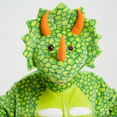 Cute Animal Pyjamas for Women Triceratops Onesie, Green_13
