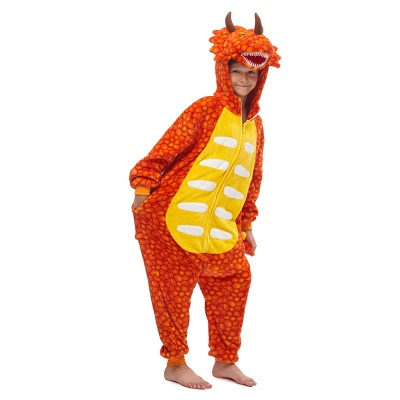 Lovely Animal Sleepwear Unicorn Onesies, Orange_2