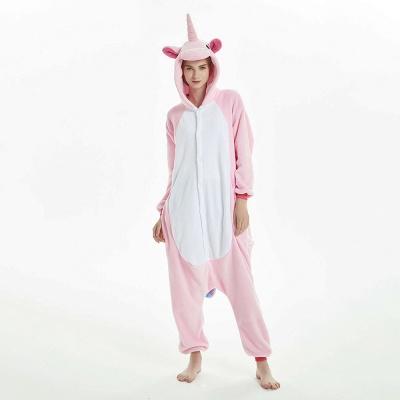 Cute Adult Pink Unicorn Onesies Sleepwear for Girls_1