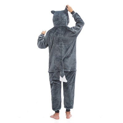 Cute Animal Pyjamas for Boys Huskie Onesie, Dark Grey_4