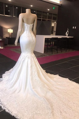 Sweetheart  Mermaid Sexy Lace Wedding Dresses | Fit-and-Flare Bridal Gowns_3