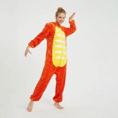 Adorable Adult Pyjamas for Women Triceratops Onesie, Orange_10