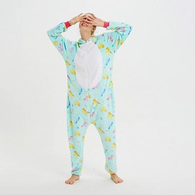 Cute Animal Pyjamas for Women Triceratops Onesie, Green_8