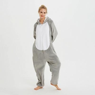 Adorable Adult Pyjamas for Women Long Ears MashiMaro Onesie, Grey_9