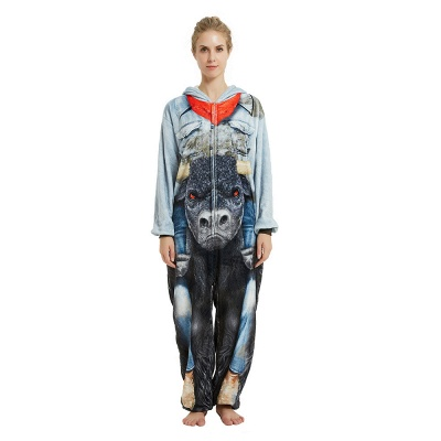 Cute Animal Pyjamas Hoodie Onesies for Women_19