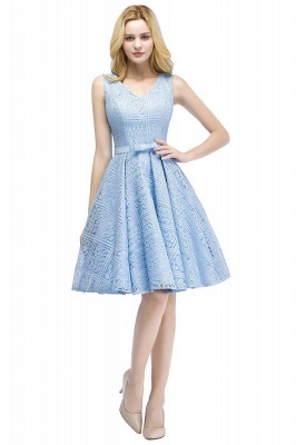Lovely A-line Lace Knee-Length Homecoming Dress_2