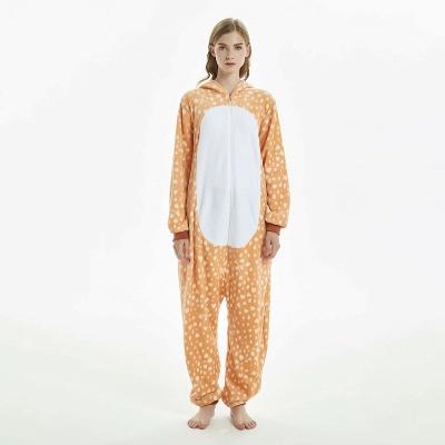 Cute Adult Deer Onesies Pajamas for Women_3