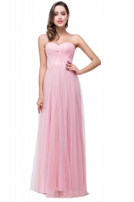 ADRIANNA | A-line Strapless Sweetheart Tulle Ruched Bridesmaid Dress_1