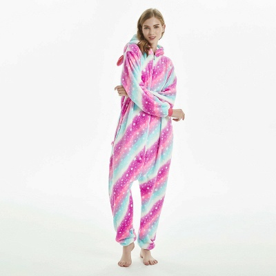 Downy Adult Coloful Onesies Pajamas for Women_10