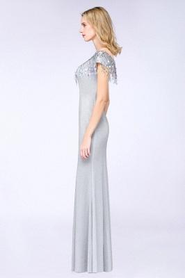 Elegant Jewel Short Sleeves Sequins Evening Dress with Tassels On Sale_5