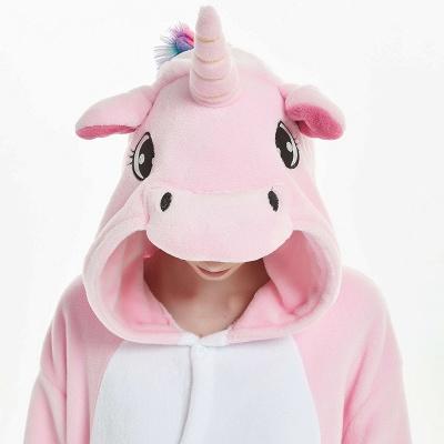 Cute Adult Pink Unicorn Onesies Sleepwear for Girls_17