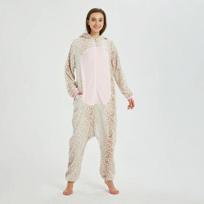 Adorable Adult Pyjamas for Women Deer Onesies_3