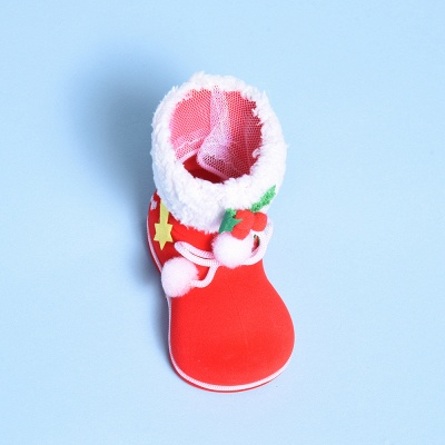 Christmas Decoration, Red Textile Sock_1