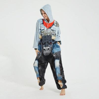 Cute Animal Pyjamas Hoodie Onesies for Women_17