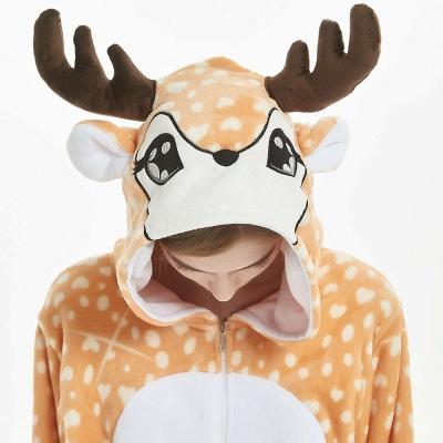 Cute Adult Deer Onesies Pajamas for Women_16