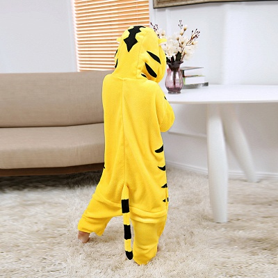 Cute Animal Pyjamas for Kids Tiger Onesies, Yellow_4