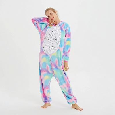 Cute Animal Pyjamas for Women Rainbow Hoodie Onesies_9