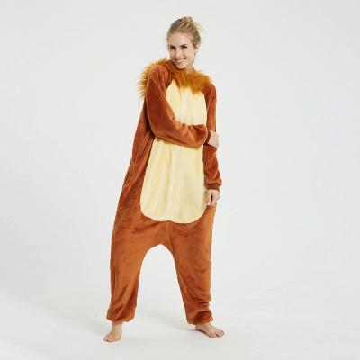 Cute Animal Pyjamas for Women Lion Onesies, Brown_7