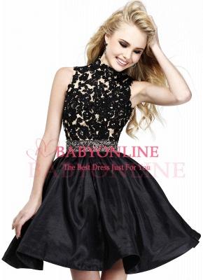 CECILIA | A-line Halter Lace Party Dress_1