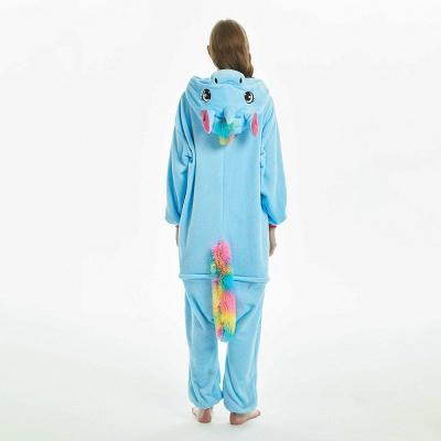 Downy Adult Sky Blue Unicorn Onesies Sleepwear for Girls_6