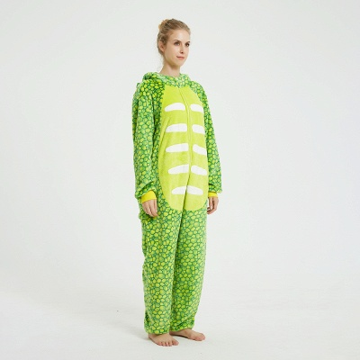 Cute Animal Pyjamas for Women Triceratops Onesie, Green_2