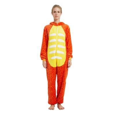 Adorable Adult Pyjamas for Women Triceratops Onesie, Orange_17