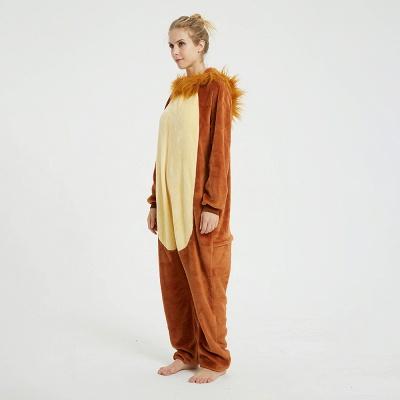 Cute Animal Pyjamas for Women Lion Onesies, Brown_9