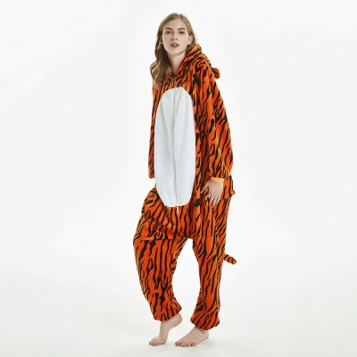 Lovely Adult Tiger Onesies Pajamas for Women_10