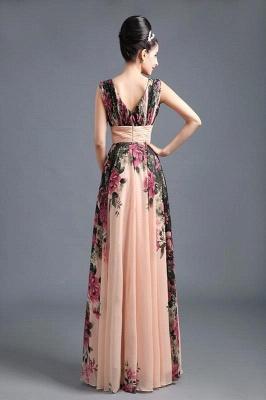 A-Line Chiffon Printed Ruffles Evening Dress On Sale_2