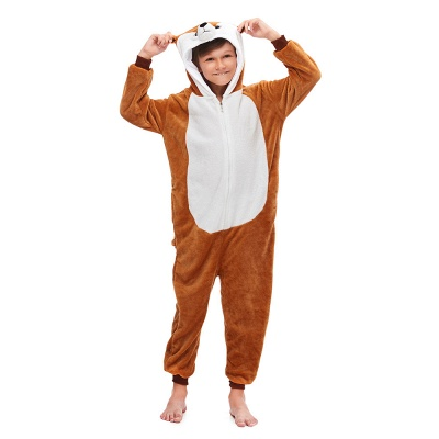 Lovely Pajamas Sleepwear for Boys Bear Onesies, Brown_5