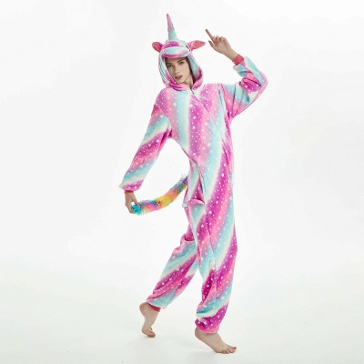 Downy Adult Coloful Onesies Pajamas for Women_15