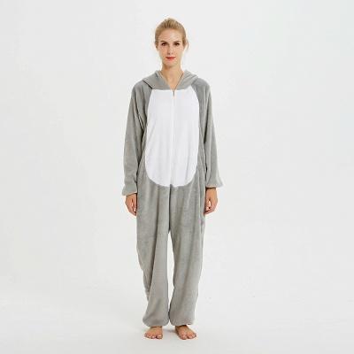 Adorable Adult Pyjamas for Women Long Ears MashiMaro Onesie, Grey_1