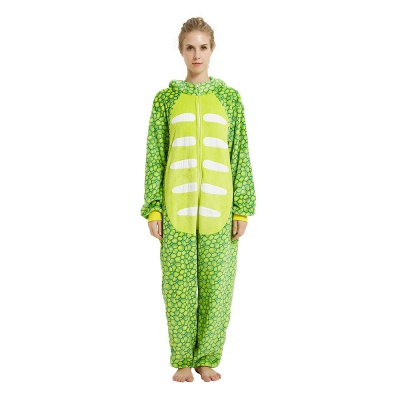 Cute Animal Pyjamas for Women Triceratops Onesie, Green_17