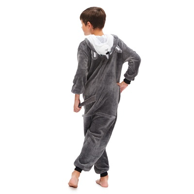Lovely Pajamas Sleepwear for Boys Huskie Onesie, Grey_6