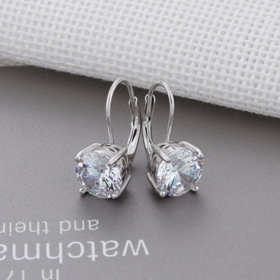 Personalized Alloy Plated Earrings Jewelry for Fashion Girls_5