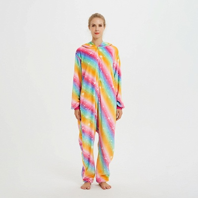 Cute Pyjamas for Women Unicorn Onesies, Rainbow_1